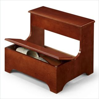 Coaster Traditional Step Stool with Storage in Cherry   3910