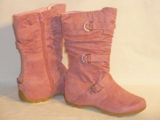 Love It Kids Suede Slouchy Buckle Boots