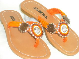 Sooo Cute Kids Girls Fabulous Beaded Rhinestone Flip Flop Sandals