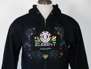Element Men Hooded Jacket Sweatshirt Hoody Medium M