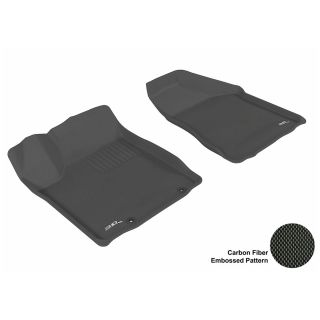 GTU 08307 Nissan Murano Floor Mat Front Seats Molded Auto Carpet Kagu Black Car