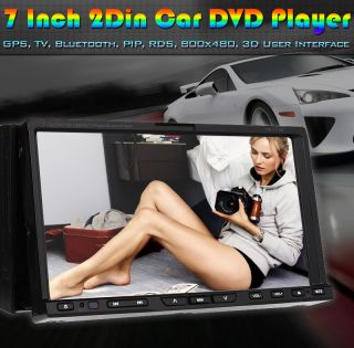 "HD 7""Touch Screen Double DIN Car Stereo DVD Player 3D Pip GPS Navigation Camera"