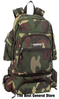 "22"" Water Repellent Heavy Duty Camo Backpack with Waist Bag Fanny Pack Carry On"