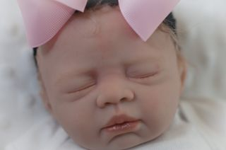 Beautiful Reborn Newborn Baby Girl BB Anna Light Brown Hair Magnetic Pacifier