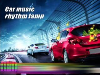 90x25cm Car Music Rhythm Lamp LED Sound Activated Equalizer Multi Color