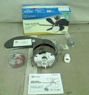 Westinghouse Lighting 7226100 Turbo Swirl CFL Single Light 30 in Ceiling Fan