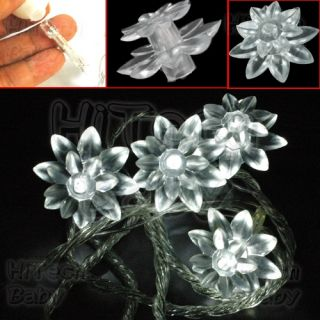 Poinsettia Multi Colour LED String Fairy Light for Xmas Tree Home Party Decor