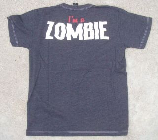 "Zombie Ghost Show Kid's Black Tee Shirt ""I'M A Zombie"" by Chaser"
