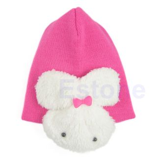 Baby Toddler Kids Boys Girl Winter Ear Flap Warm Hat Beanie Cap Crochet Rabbit