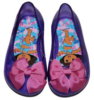 "Dora The Explorer Toddler Girl Slippers Size Small 5 6 ""Beach Explorer"" Purple"