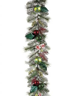"6' x 10"" Pre Decorated Artificial Christmas Garland"