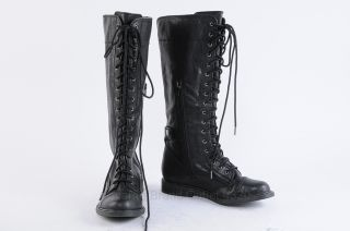 Tall Black Leather Boots 7.5