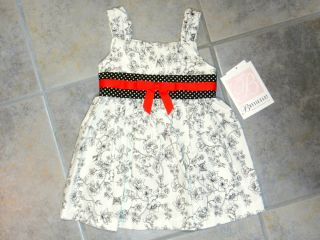 Girls Dress Black White Floral Bonnie Baby Toddler Size 2T 3T Sleeveless Party