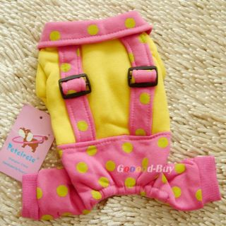 Pet Dog Puppy Apparel Clothing Suspender Trousers Winter Warm Coat XXS XS s M L