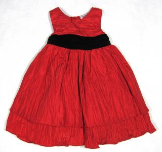 Baby Girls Red Dress Tiered Black Bolero Jacket Size 12 18 Months Blueberi