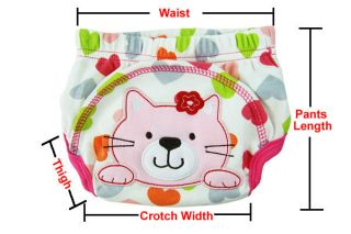 Baby Boy Girl Infant Toilet Pee Potty Training Pants Clothes Diaper Underwear