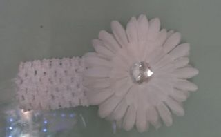 Baby Girl Boy Toddler Daisy Flower Crystal Diamante Headband Hairband Bow Clip