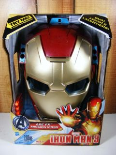 Brand New Marvel Iron Man 3 Arc FX Mission Mask