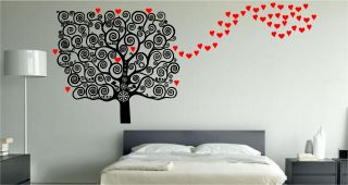 Stunning Love Heart Tree Wall Art Sticker Decal Bedroom Kitchen Lounge