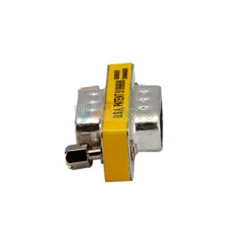 RS232 DB9 9 Pin Male to Male Coupler Adapter Connector