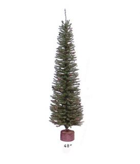 4' Carmel Pine Cone Artificial Christmas Tree with Wood Base Unlit