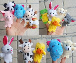 10 Plush Animal Finger Puppets Baby Cartoon Dolls Boy Girl Party Gift