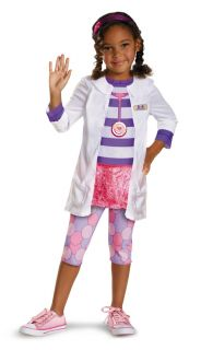 Toddler Girls Disney Doc McStuffins Doctor Lab Coat Costume w Stethoscope