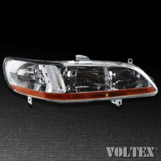 1998 2000 Honda Accord Headlight Lamp Clear Lens Halogen Passenger Right Side