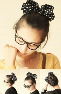 Color Pick Lovey Sweet Ladies Girl's Big Bow Hair Ponytail Holder Audrey