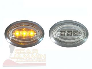 Mini Cooper LED Side Marker Lights Chrome Clear 06 09