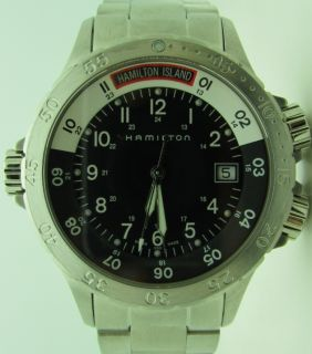 Hamilton Khaki Navy Sub Mens Date Stainless Steel Watch H74511133 New