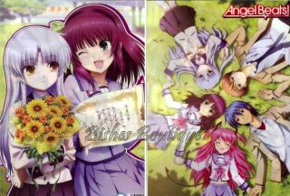 Angel Beats Kanade Yuri Double Side Clear Folder File