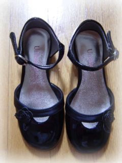 Kenneth Cole Unlisted Black Patent Leather Dress Shoes Toddler Girls 7 1 2