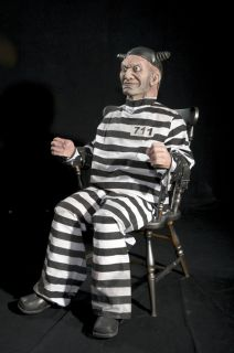 Buzz Electric Chair Prisoner Animated Halloween Prop Watch The Video