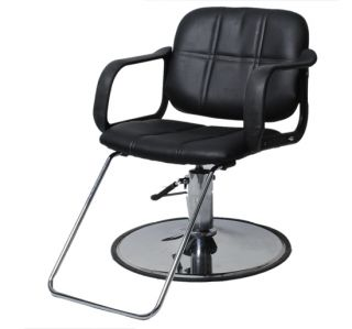 PU Hydraulic Barber Chair Styling Salon Work Station Chair Beauty Equipment