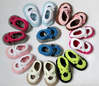 Lovely Cute Handmade Crochet Shoes Newborn Baby Boy Girl Photograph New 8 Colors
