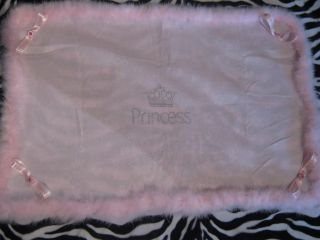 Baby Girls Princess Blanket Throw Fit Crib Moses Basket Pram Small Blanket Pink