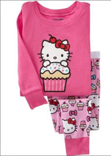 "Baby Toddler' Clothing Girls Pajamas Sleepwear Kids Pajamas ""Pink Kitty"" 269"