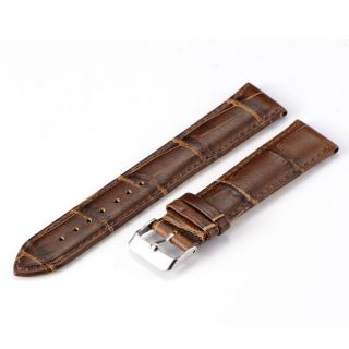 High Quality Mens Genuine Leather Watch Band Strap Replacement 18 20 22mm