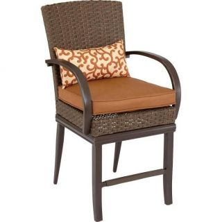 Hampton Bay Salem Patio High Dining Chair 2 Pack