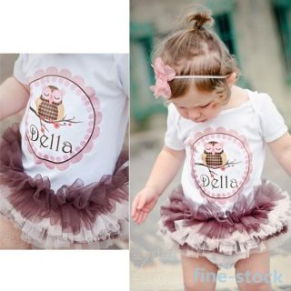 Lovely Romper Outfits Girls One Piece Cotton T Shirts Baby Tutu Dress 0 3 Year