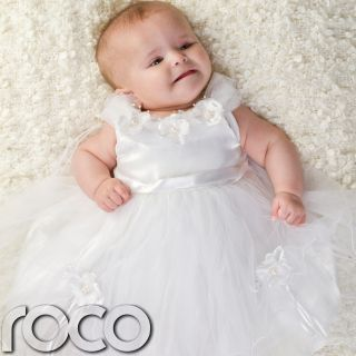 Baby Girls White Flower Dress Wedding Babies Bridesmaid Flower Girl Dresses