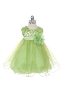 New Baby Girls Christmas Easter Wedding Flower Girls Sequin Spakles Tulle Dress
