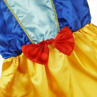 Girl Kids Princess Snow White Bow Party Costume Fancy Dress Up Sz 3 4 5 6 7
