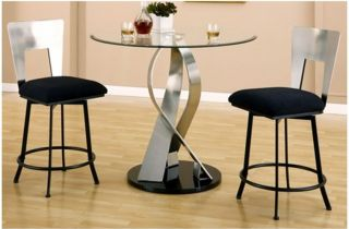Chintaly Cara 3 Piece Counter Height Dining Table Set