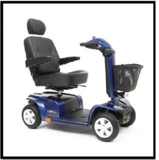 New Mega Motion MM4401DX Endeavor x Blue Electric 4 Wheel Power Chair Scooter