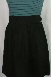 Kimchi Blue Short Dress Womens Size Medium M Blue Stripe Top Black Skirt