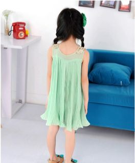 1pc Baby Girls Kids Dress Sequin Pleated Skirt Chiffon Party Dress Clothing