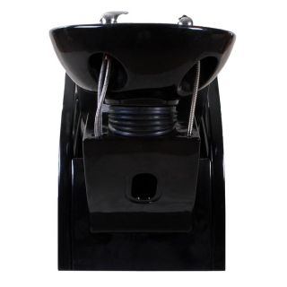 New Sturdy Black Salon Shampoo Chair Bowl Unit Su 15B