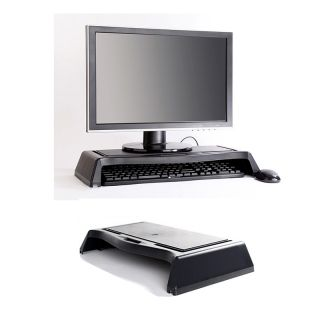 New LCD Monitor Stand Laptop Holder Tray Desktop Arrangements Office Home Black